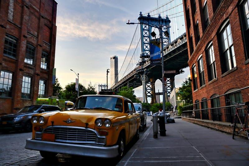 Manhattan Bridge view from Dumbo Brooklyn, Yew York City. USA stock photography