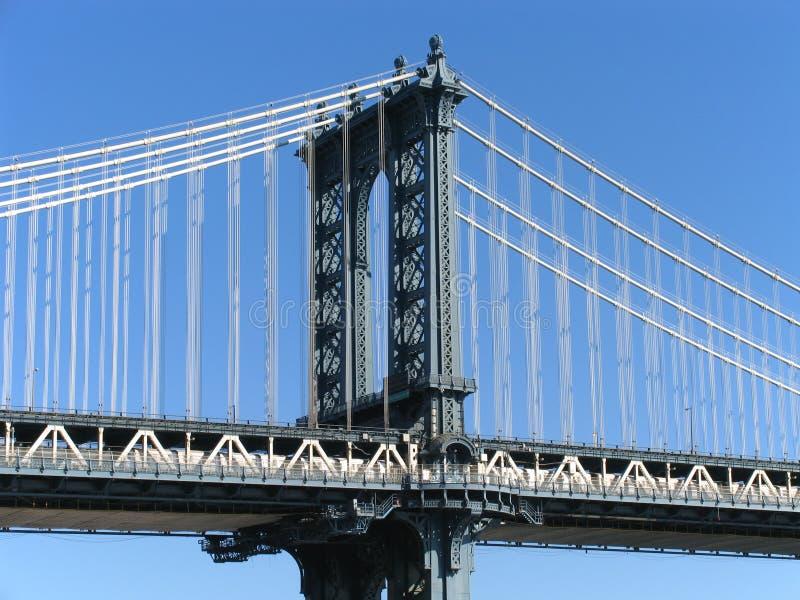 Manhattan Bridge Western Tower royalty free stock photo