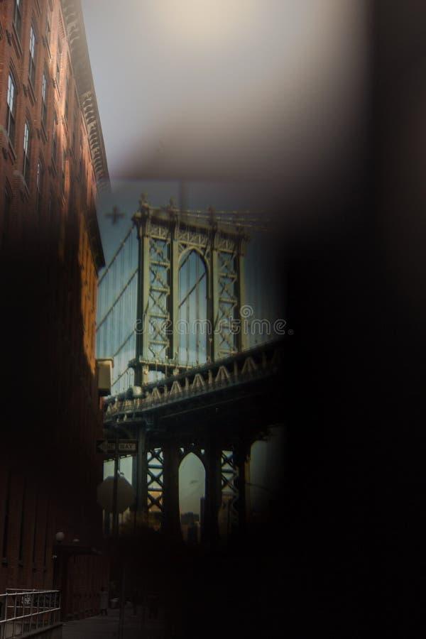 Manhattan bro från DUMBO, Brooklyn arkivfoton