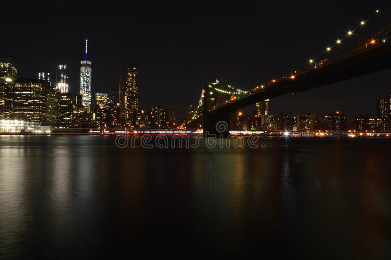 Manhattan from Brooklyn royalty free stock image