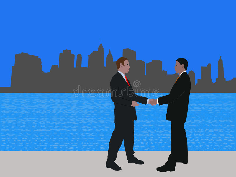 Download Manhattan business meeting stock vector. Image of corporate - 6971003