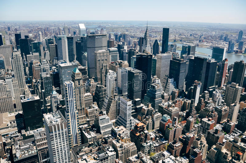 Manhattan city skyline view. royalty free stock photography