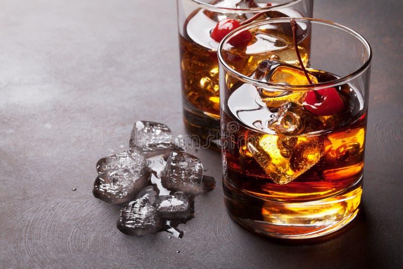 Manhattan cocktail stock photography
