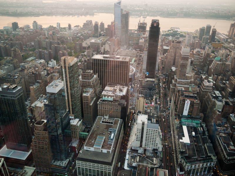 Manhattan de acima imagem de stock royalty free