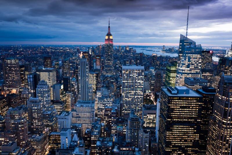 Manhattan de centre de Rockefeller, New York, Etats-Unis photos libres de droits