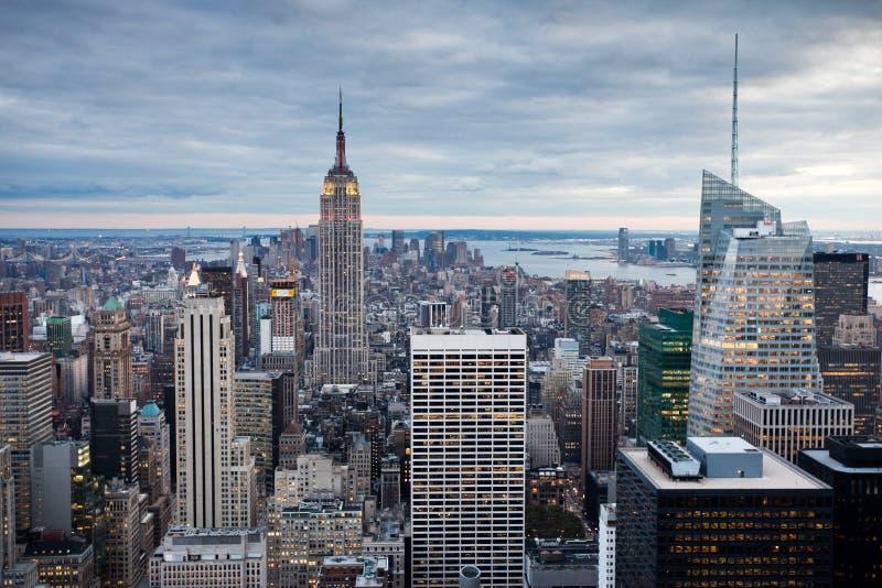 Manhattan de centre de Rockefeller, New York, Etats-Unis photo libre de droits