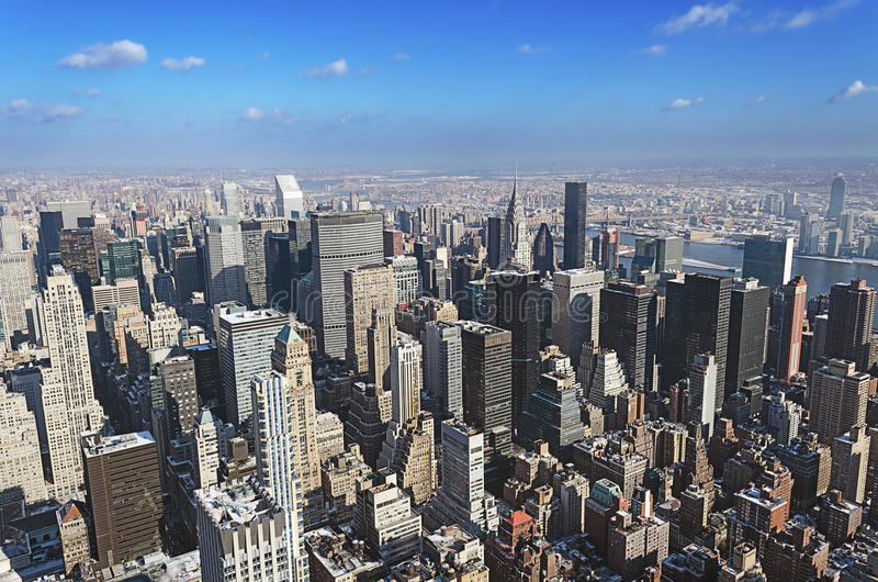 Manhattan de cima de fotos de stock
