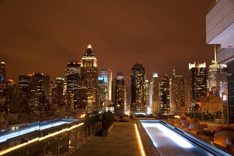 Manhattan del tejado foto de archivo libre de regalías