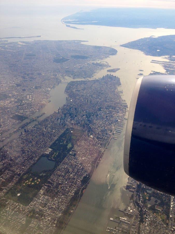 Manhattan do ar imagem de stock