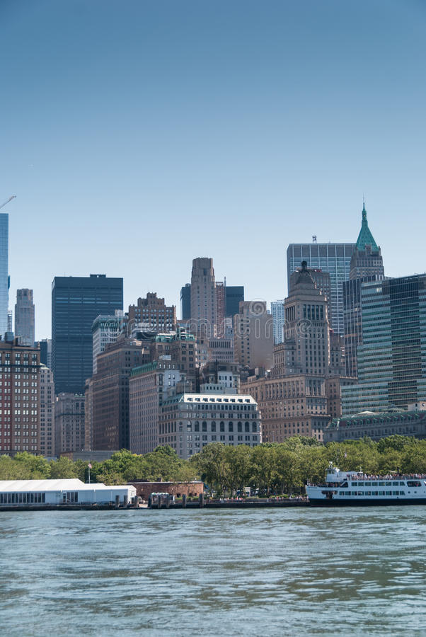 Manhattan downtown close up. Manhattan downtown and Battery Park close up stock photos