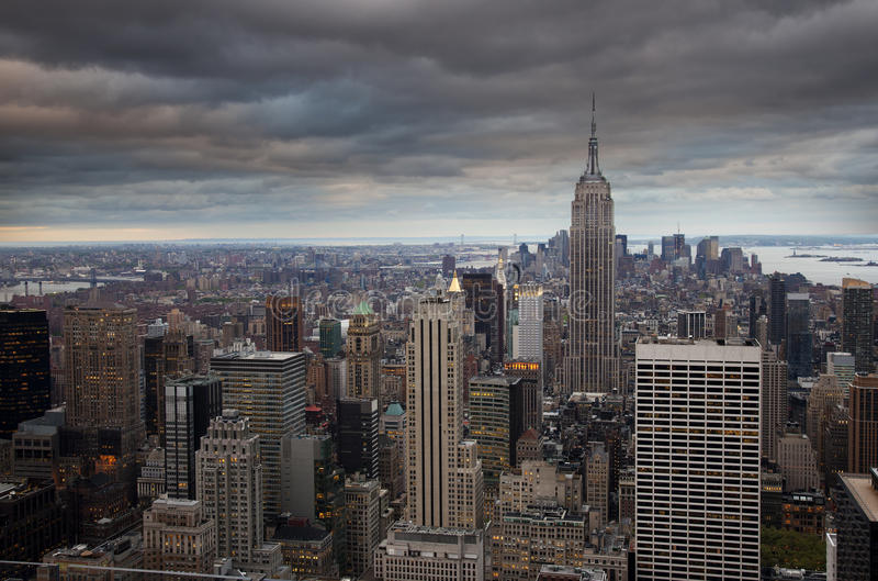Download Manhattan at dusk stock photo. Image of cityscape, modern - 21121336