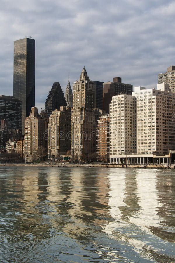 Manhattan And East River Stock Images