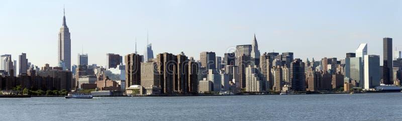 Manhattan-eastside Panorama stockfotos