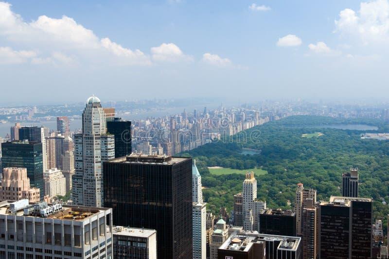 Manhattan ensolarado fotografia de stock
