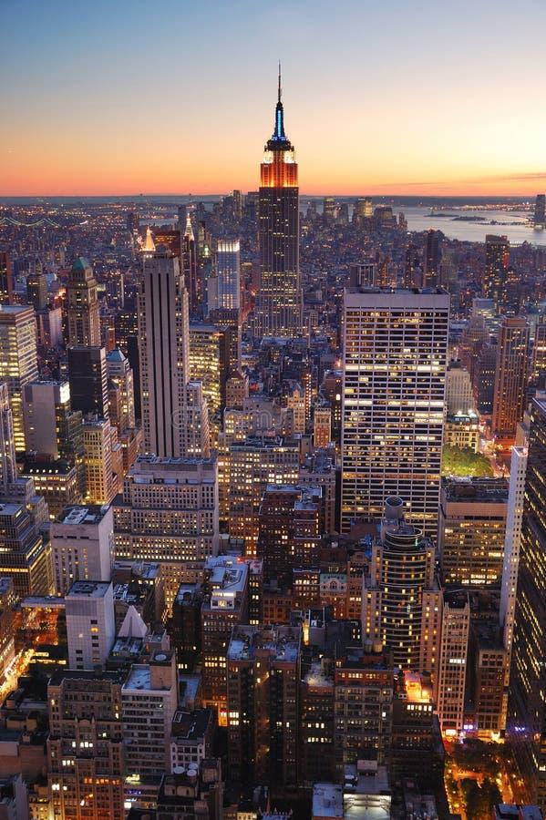 manhattan för byggnadsstadsvälde nytt tillstånd york royaltyfri bild