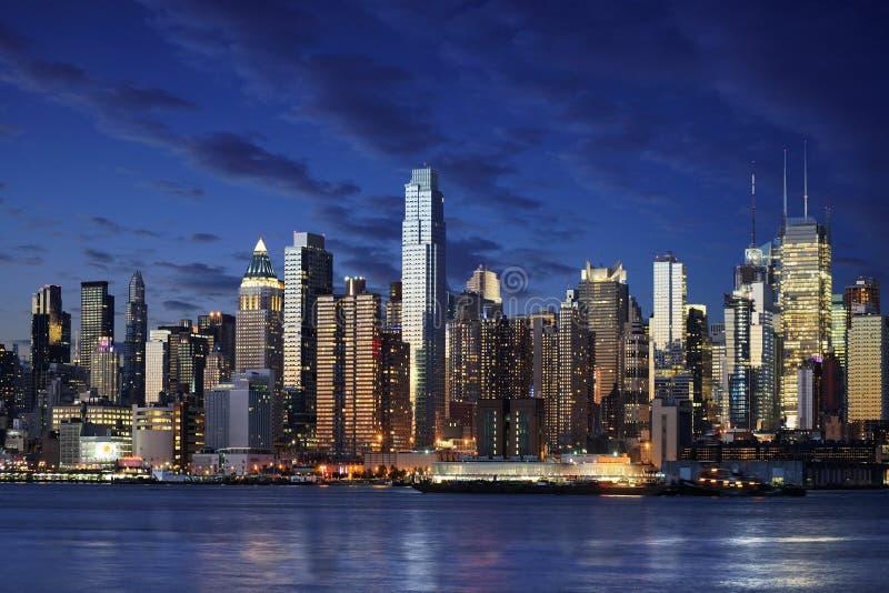 Manhattan För Fantastisk Stad Ny Newyork Som Visar York Arkivfoto