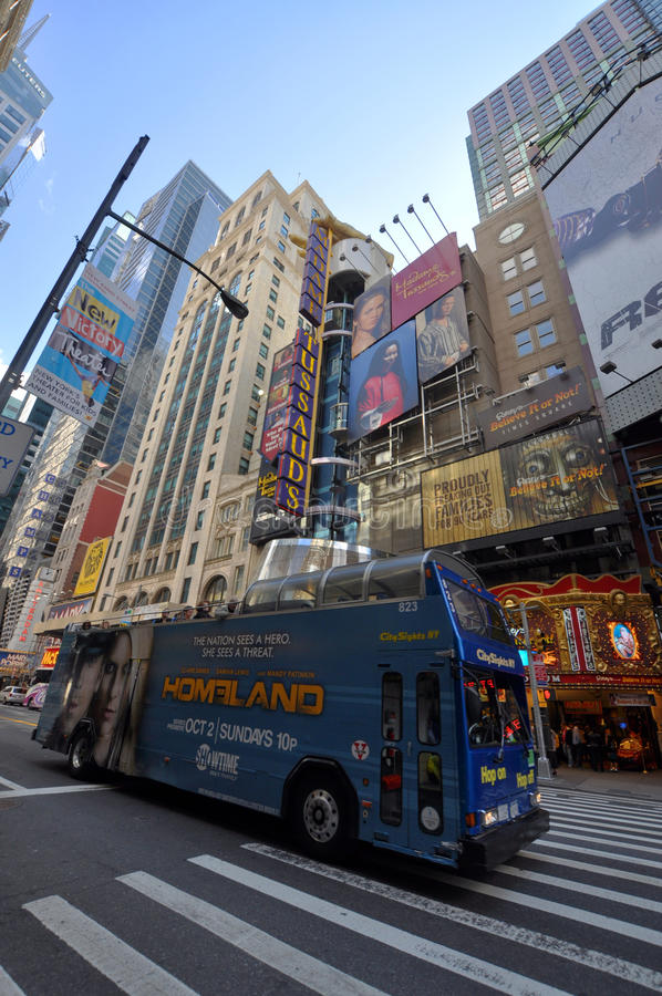 manhattan för stadsområde ny teater york arkivbilder
