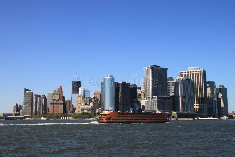 Manhattan-Finanzbezirk stockbilder