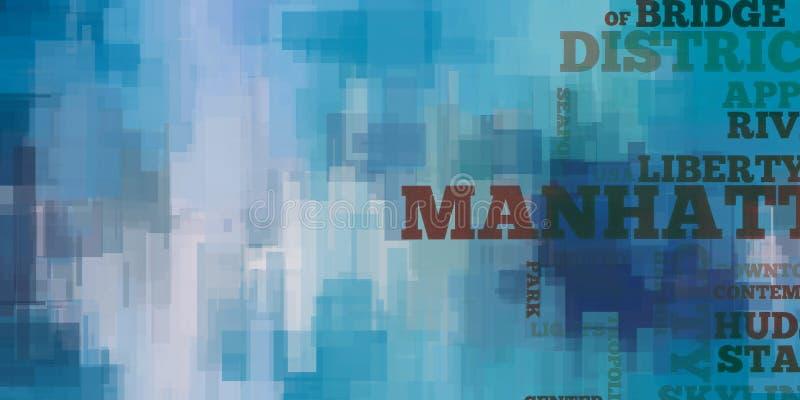 manhattan illustration stock