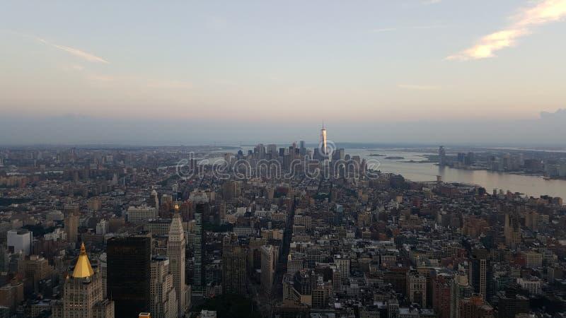 Manhattan från välden arkivbild