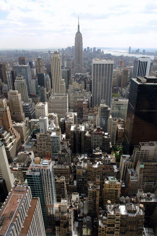 Manhattan głąbik miasta. zdjęcia royalty free