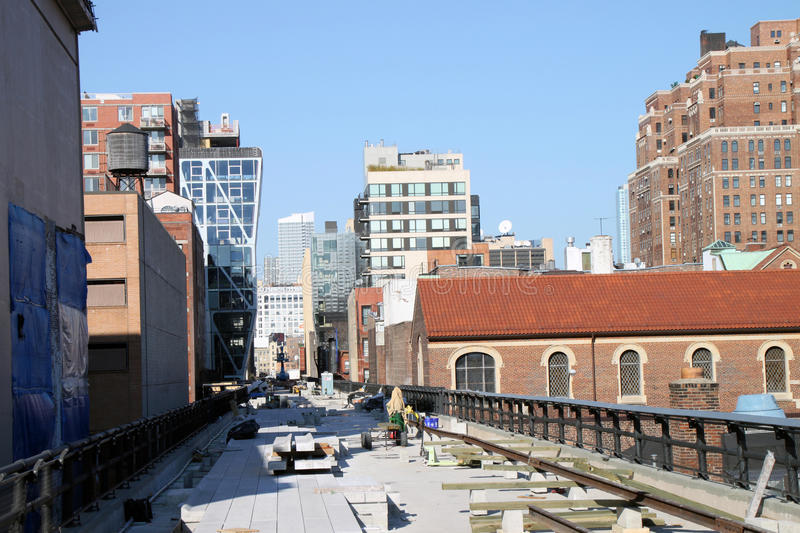 Manhattan High Line Park stock photo