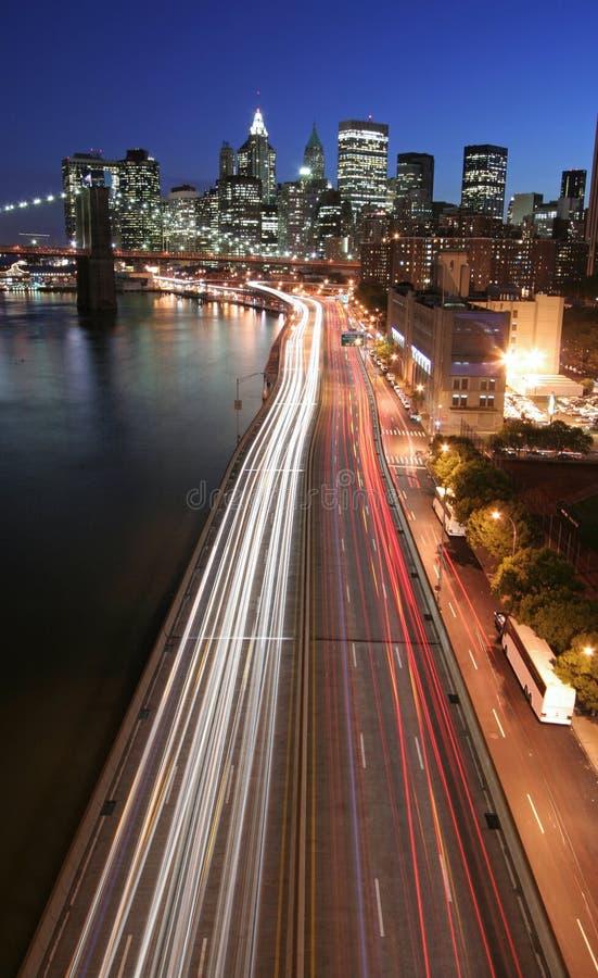 Free Manhattan Highway Traffic Royalty Free Stock Image - 3526016