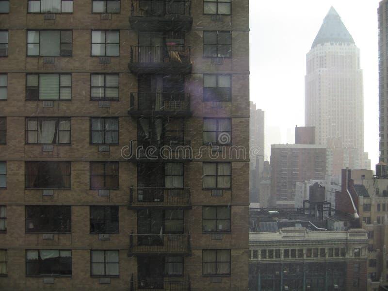 Manhattan hirises royalty-vrije stock afbeeldingen