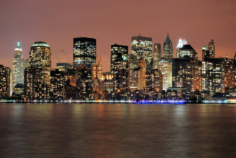 Manhattan after hours royalty free stock images