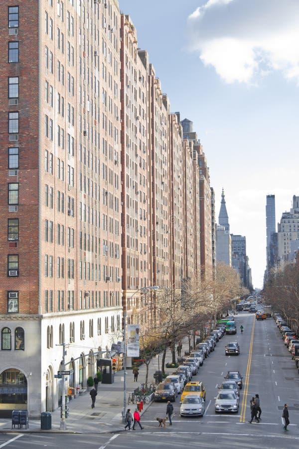 Manhattan hyreshusar royaltyfri foto