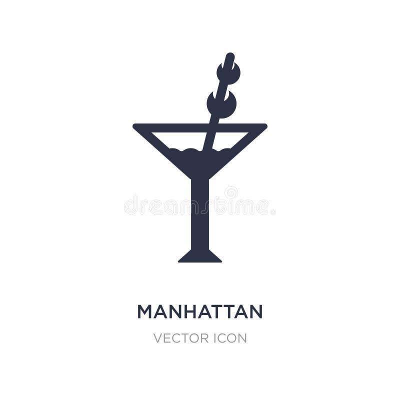 Manhattan-Ikone auf weißem Hintergrund Einfache Elementillustration vom Getränkkonzept lizenzfreie abbildung