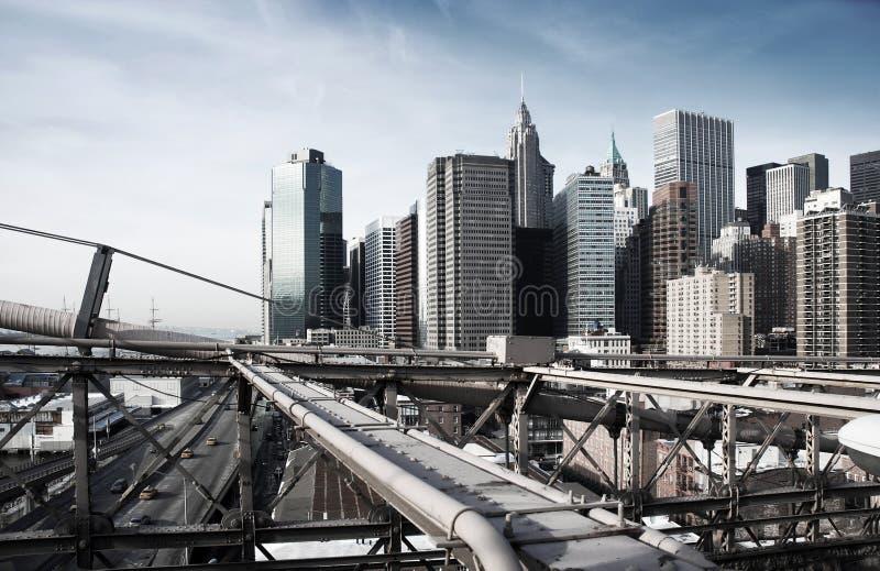 Manhattan industrielle York de tonalité rugueux neuf image libre de droits