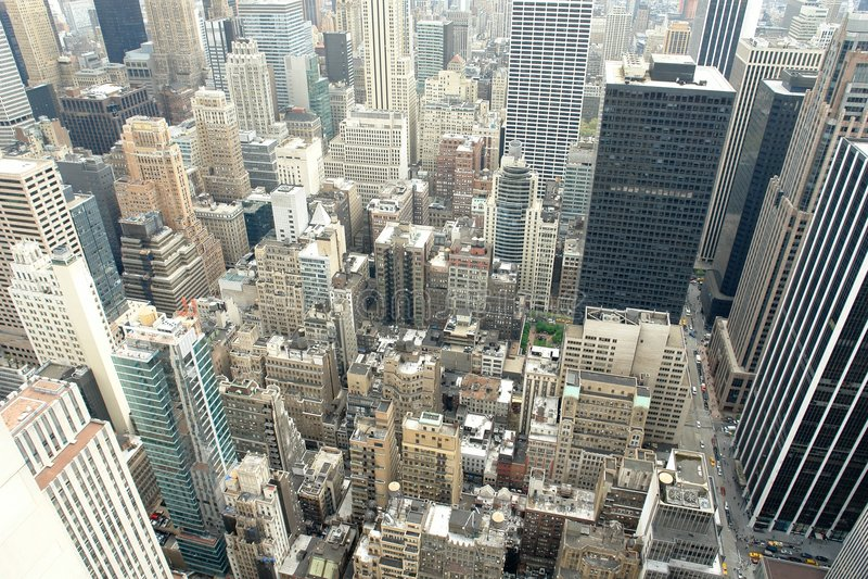 Manhattan - jungle urbaine photographie stock