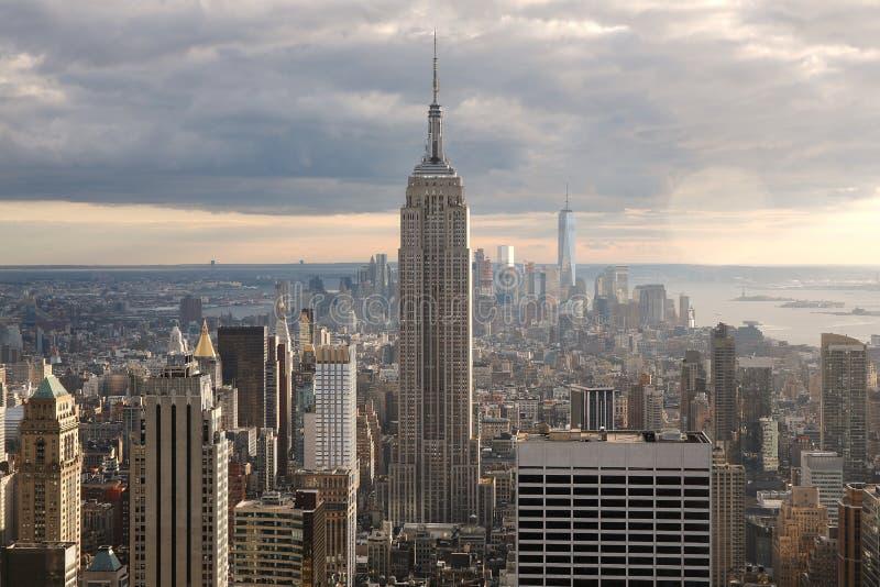 Manhattan-Landschaft stockfoto