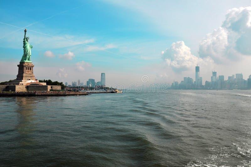 Manhattan - liberdade foto de stock