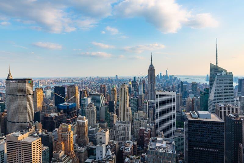 Manhattan - Mening vanaf Bovenkant van de Rots - Rockefeller-Centrum - New York stock foto