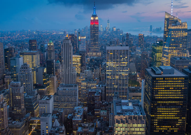 Download Manhattan stock image. Image of financial, locations - 34300937