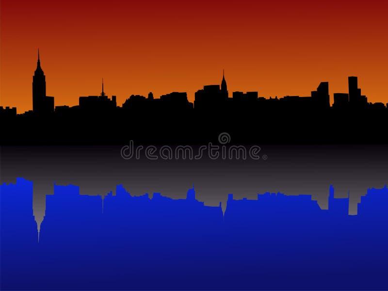 manhattan midtown New York vektor illustrationer