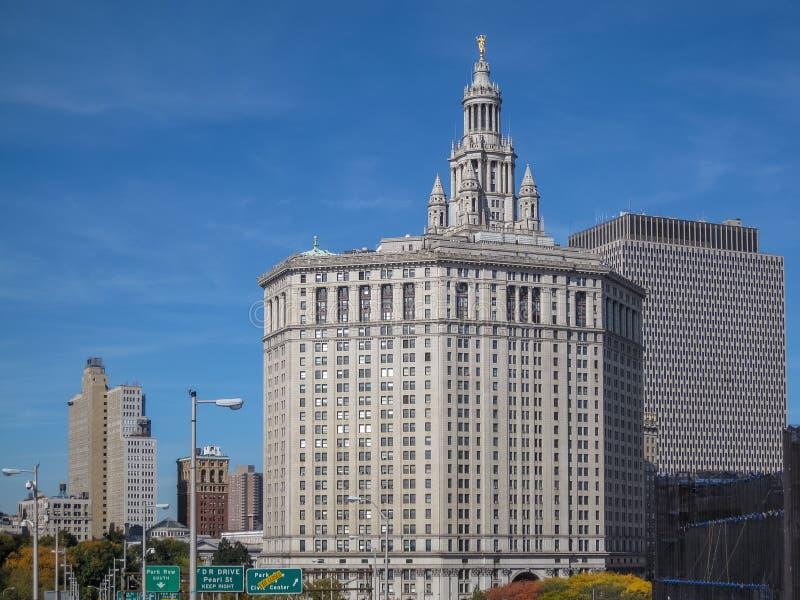 Manhattan miejski budynek w Miasto Nowy Jork obrazy stock