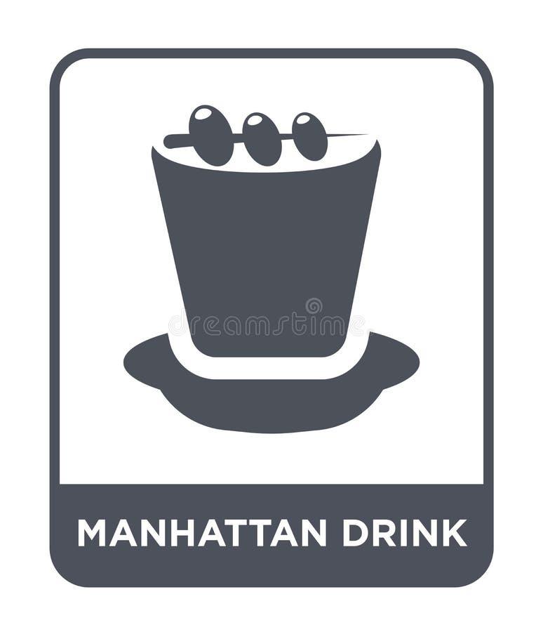 manhattan napoju ikona w modnym projekta stylu manhattan napoju ikona odizolowywająca na białym tle manhattan napoju wektorowa ik royalty ilustracja