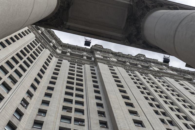 Manhattan neoklasyczny Miejski budynek w Miasto Nowy Jork obraz stock