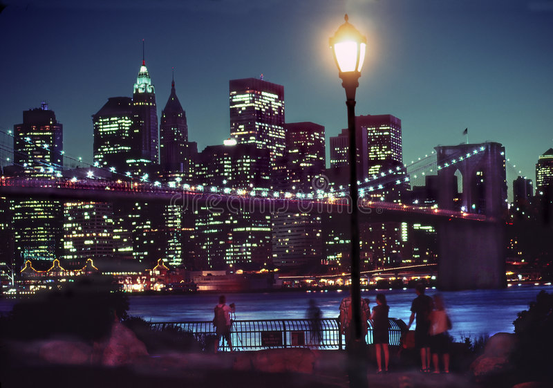 Download Manhattan Night Skyline, New York USA Stock Photo - Image: 5935982