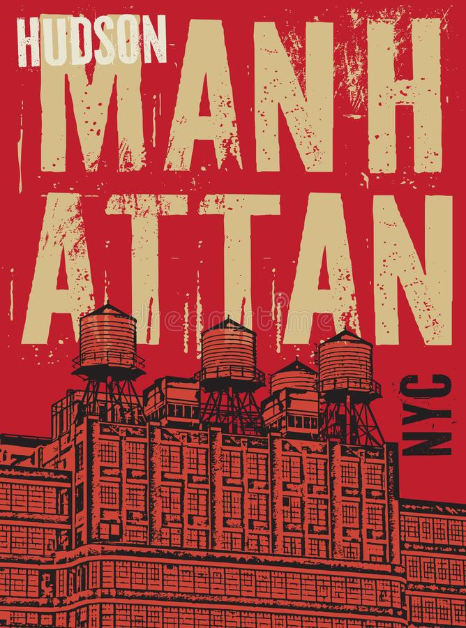 Manhattan, New York City illustration stock