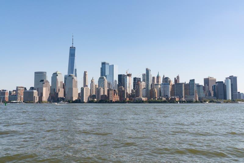 Manhattan New York horisont royaltyfria foton