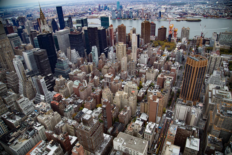 Manhattan nieba widoku śródmieście zdjęcia royalty free