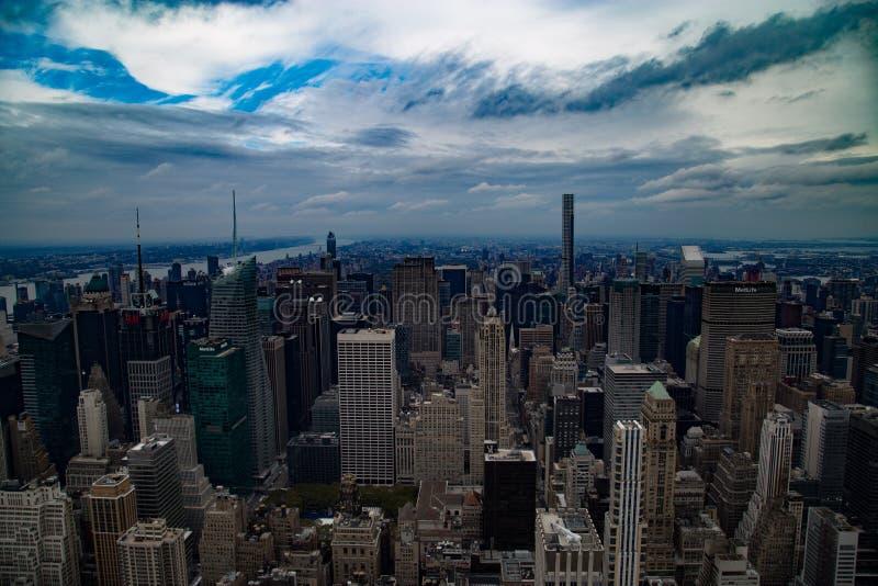 Manhattan nieba widoku śródmieście fotografia royalty free