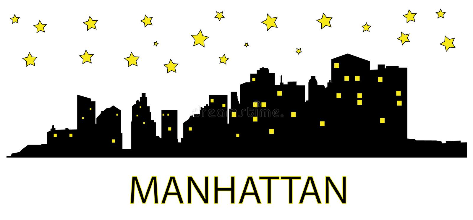 Download Manhattan At Night Royalty Free Stock Photo - Image: 13838315