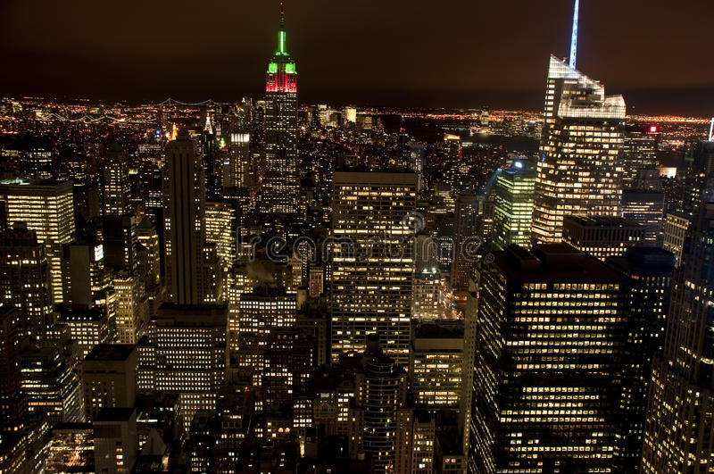Download Manhattan by night stock image. Image of urban, buildings - 17953975