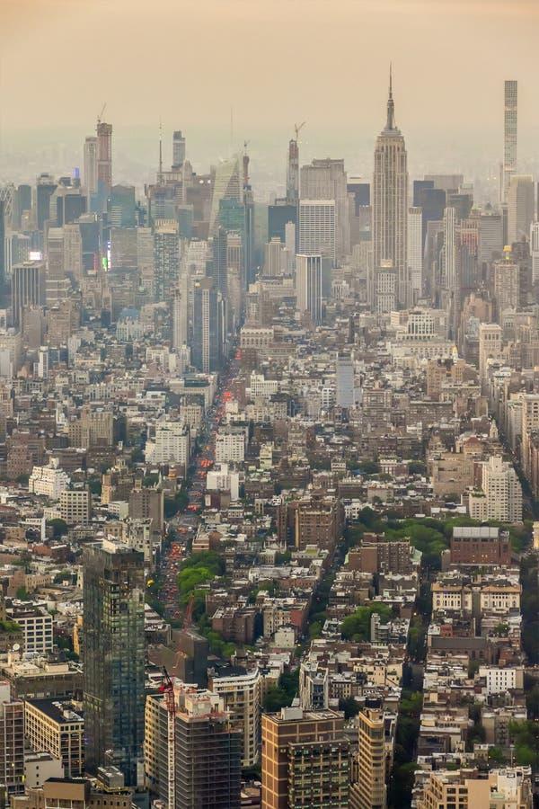 Manhattan Nueva York con Empire State Building foto de archivo