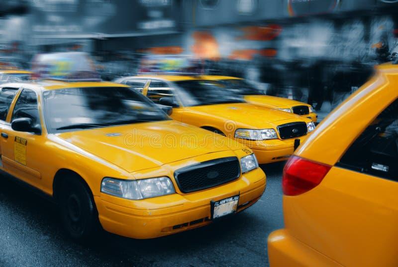 manhattan ny square taxi times στοκ εικόνες